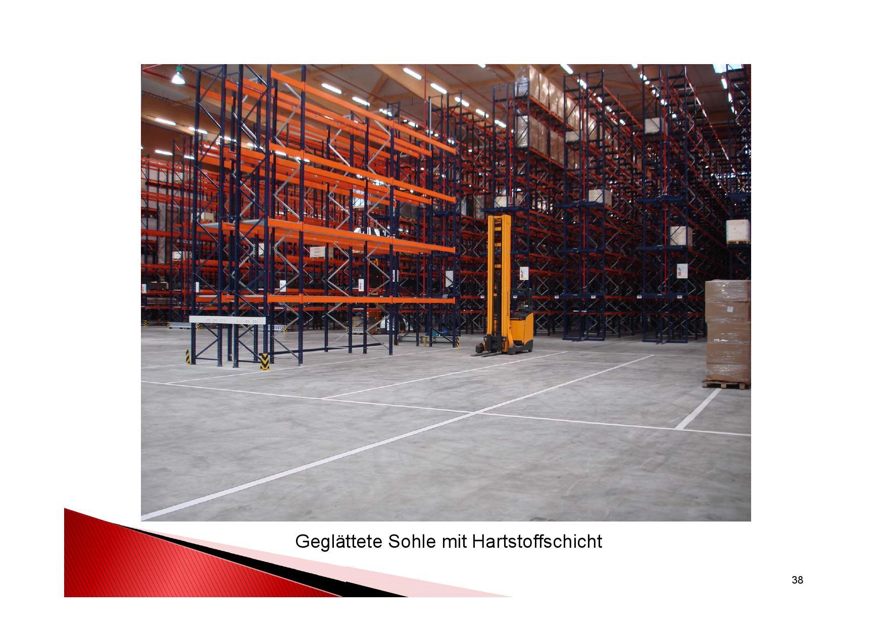 Nach der Fertigstellung:Industrieboden mit Hartstoffschicht