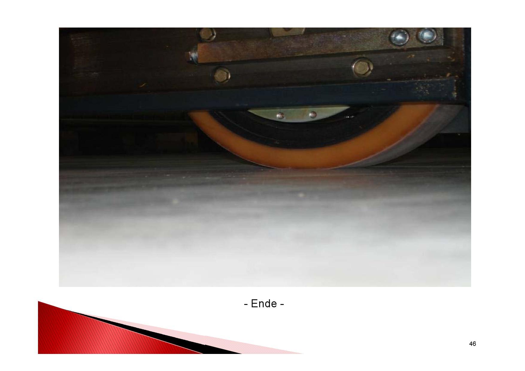 Industrieboden Herstellung: Praxistest Überfahren mit Förderbrücke