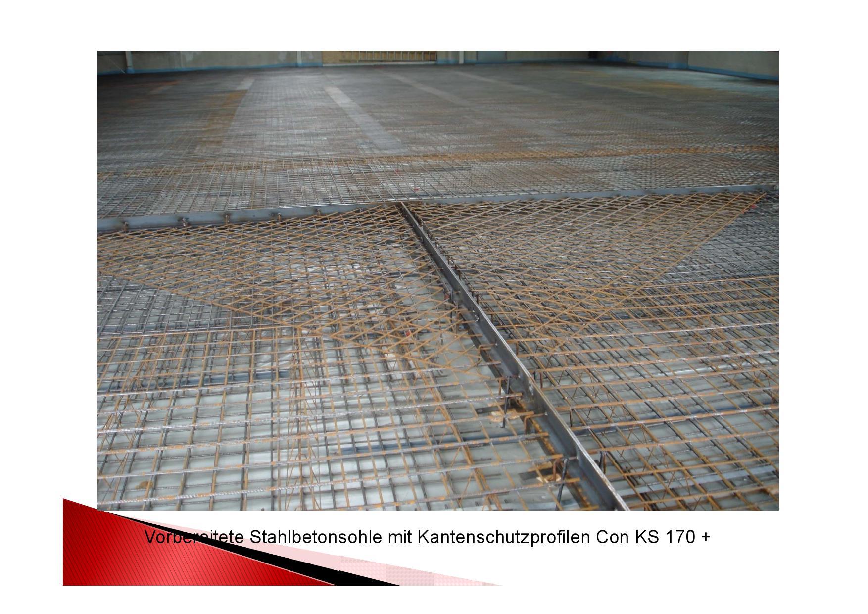 Vorbereitete Stahlbetonsohle Con KS 170+