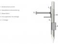 Deteildarstellung Erdmagel mit Spezialbetonrückverankerungt des Randabschlussprofils Con RS 170+