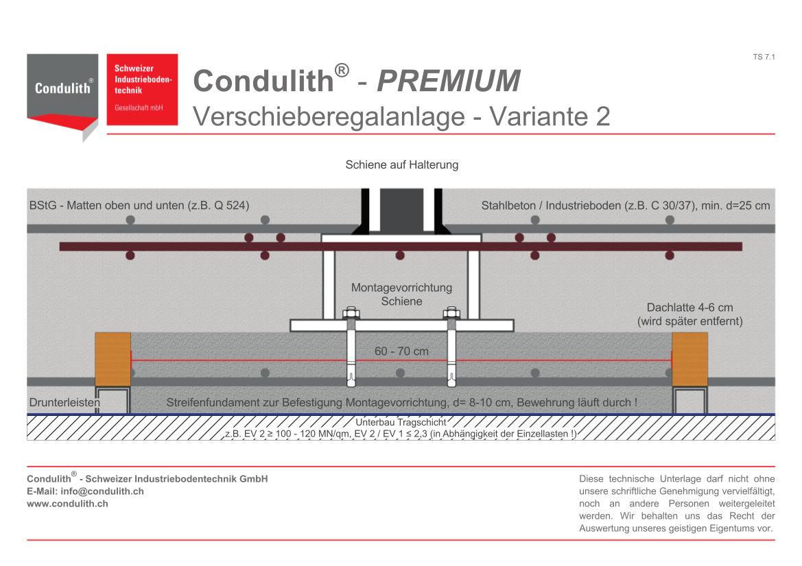Planungshilfe Industrieboden: Verschieberegalanlage - Variante 2